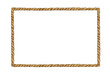 canvas print picture - Watercolor painting of Brown Rope frame on white background