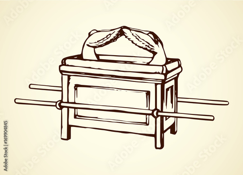 Photo Ark of Covenant. Vector drawing