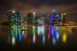 Singapore Cityscape Financial building