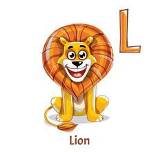 Alphabet Letter L. Lion