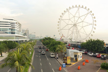 View To Embankment Area Near Mall Of Asia In Manila