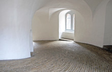 Interior View Of The Staircase Leading To The Observation Deck Of The Rundetaarn Or Round Tower In Old Town, Copenhagen, Denmark