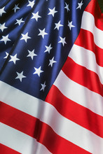USA Flag With Stars Background...