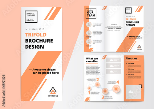 Orporate Presentation Trifold Brochure Design Creative Business