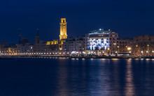 Bari Seafront Night Citylights...