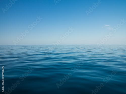 Poster Mer coucher du soleil Blauer Ozean