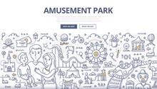 Amusement Park Doodle Concept