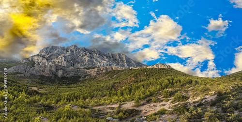 Foto auf Gartenposter Gebirge mount sainte-victoire in the provence, the Cezanne mountain