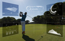 Pro Golf Player Shot Ball From...