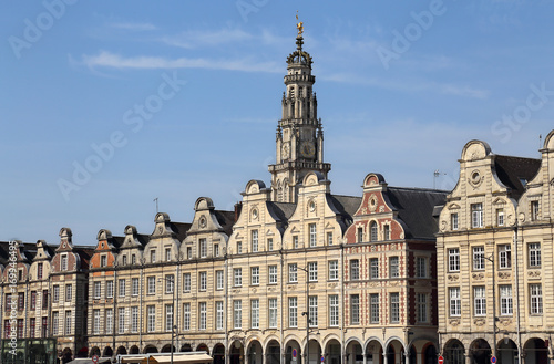 Historical houses on Grand Place in Arras, France Canvas Print