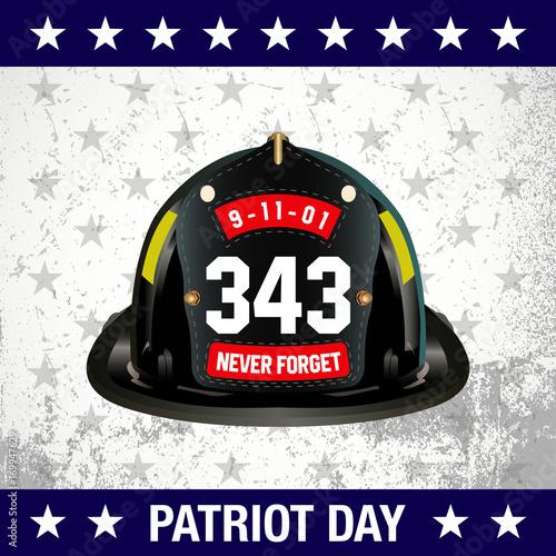 Fotografia  Vector Illustration of  Patriot day background
