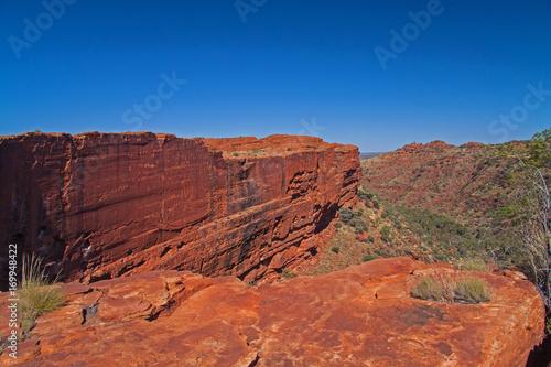 Keuken foto achterwand Rood traf. Felswand im Kings Canyon