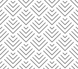 Art deco style geometric scales. Seamless vector pattern - 169949471