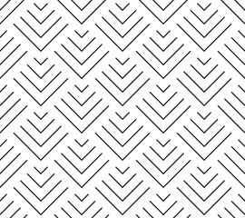 Fototapeta Art deco style geometric scales. Seamless vector pattern