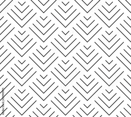 Art deco style geometric scales. Seamless vector pattern