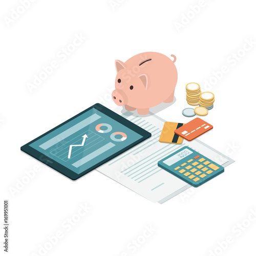 Fototapeta Investments and savings obraz