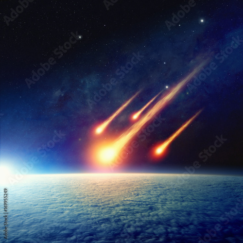 Photo Asteroid impact, end of world, judgment day