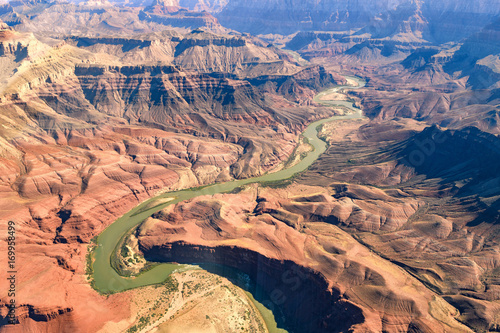 In de dag Canyon aerial view of grand canyon national park, arizona