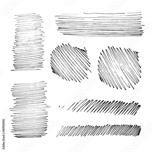 Fototapeta Grunge Ink pen Stroke set obraz na płótnie