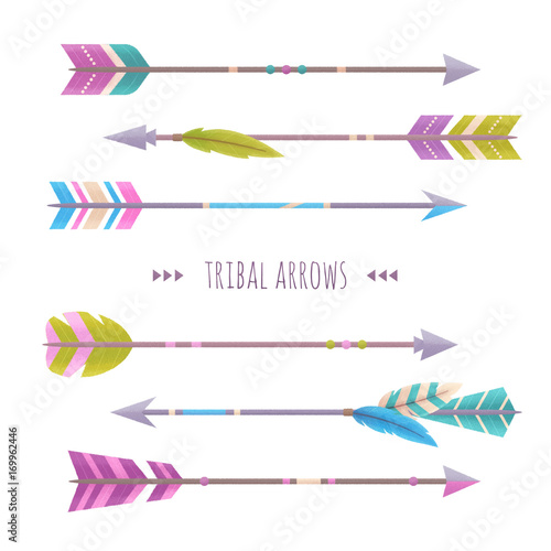 Canvas Prints Boho Style Set of arrows isolated on white background