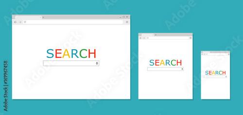 Fotografia  Browser window