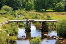 Clapper Bridge In Dartmoor, An...