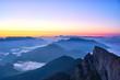 Picturesque sunrise in austrian Alps