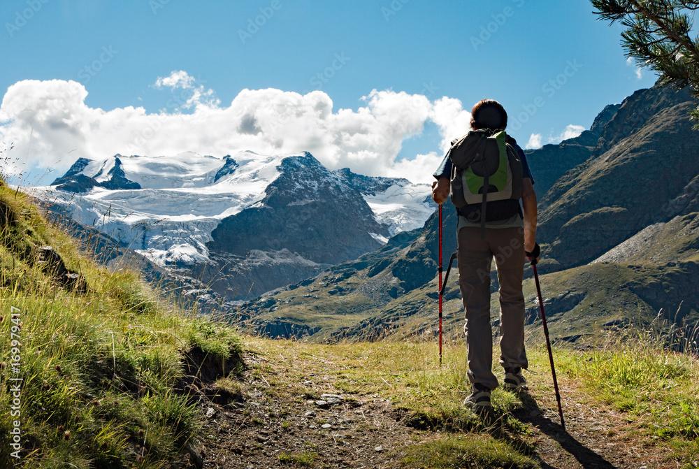 Fototapety, obrazy: trekking in alta montagna - Valfurva. Valtellina (Italy)