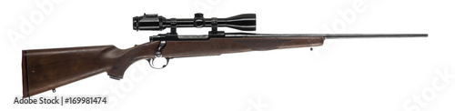Valokuva Deer Rifle Isolated on White Background