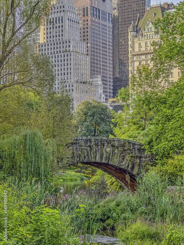 Leinwand Poster Gapstow bridge Central Park, New York City