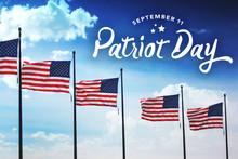 Patriot Day Typography Over Fl...