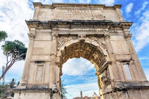 Photo Titus Arch Jerusalem Victory Roman Forum Rome Italy