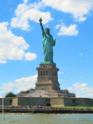 Fotografie, Obraz  The Statue of Liberty in New York City with a blue sky background
