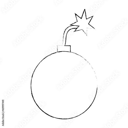 Fototapeta explosive boom isolated icon vector illustration design