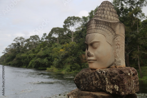 Photo Stands Place of worship Ruins of Angkor Wat