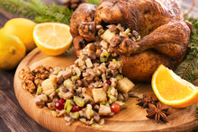 Roasted Turkey With Stuffing S...