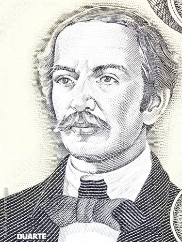 Fotografía  Juan Pablo Duarte portrait from Dominican money