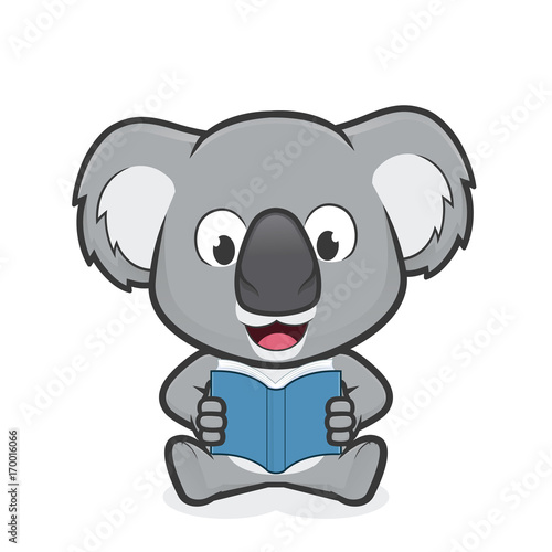 Fototapeta premium Koala czyta książkę