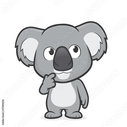 Fototapeta premium Koala w myślącym geście