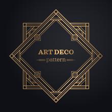 Art Deco Frame Background