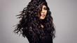 Leinwandbild Motiv Fashion model with wavy hairstyle