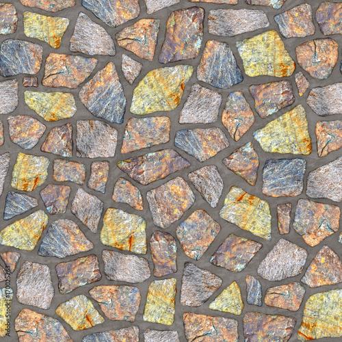 Naklejki na meble z wzorem w kamienie brukowe
