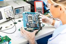 Female Electronic Engineer Exa...