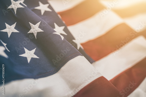 Fotomural  American flag for Memorial Day, 4th of July, Labour Day