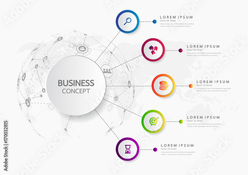 Fényképezés  Vector infographic template business concept with options