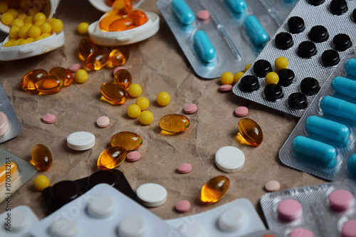 Pills vitamins capsules healthy lifestyle concept 2