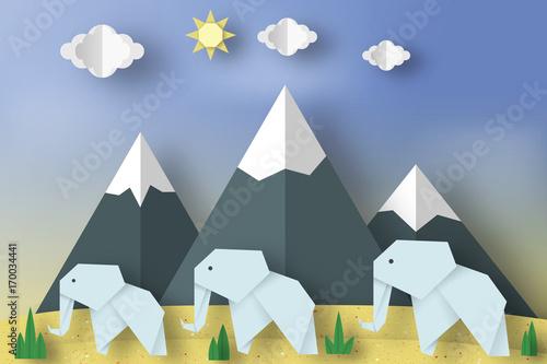 koncepcja-papieru-origami