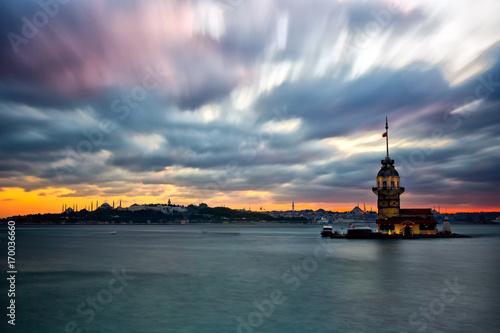 Photo  Maiden's Tower Istanbul city, Turkey
