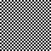 Black And White Checkered Seamless Pattern. Vector Illustration.