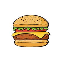 Vector Illustration. Hamburger...